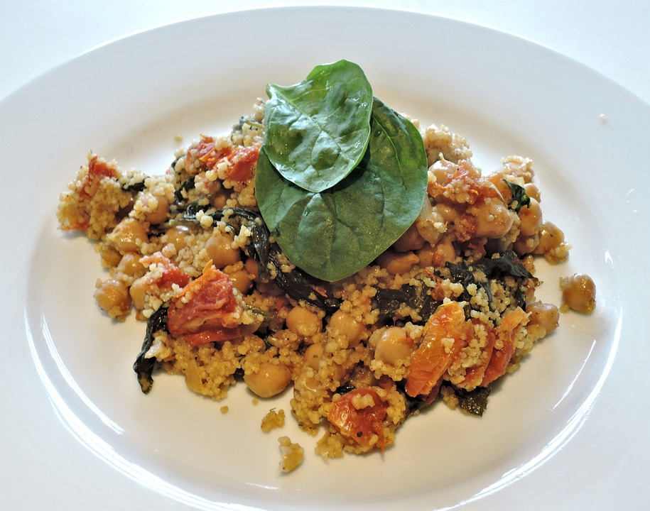 Tomato Balsamic Chicken with Spinach and Couscous